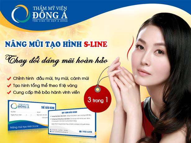 Dịch vụ nâng mũi tạo dáng S-line tại TMV Đông Á được nhiều người ưa thích